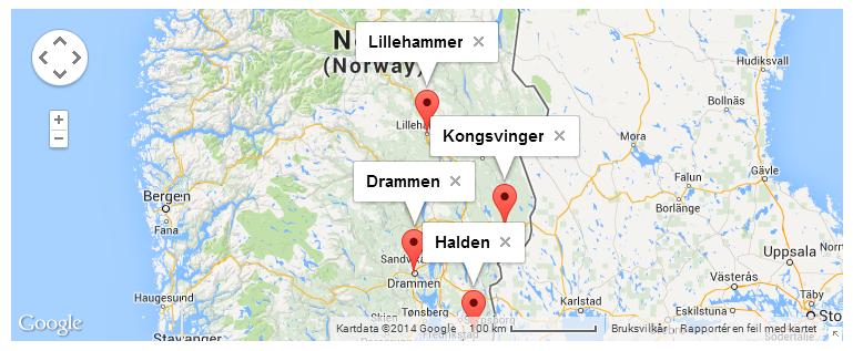 Link til kart - foto