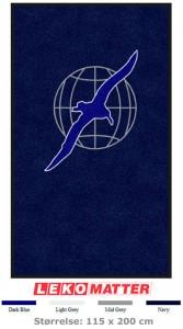 Blå logomatte-foto