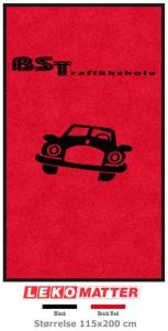 Logomatte trafikkskole-foto