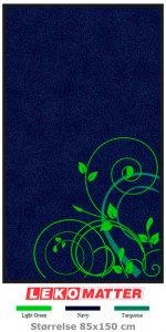 Blomster logomatte-foto