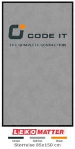 lys grå logomatte-foto