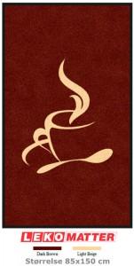 Logomatte kaffekopp-foto