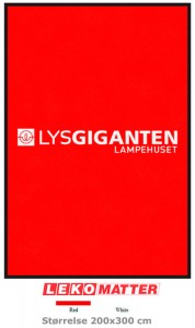 Rød logomatte-foto