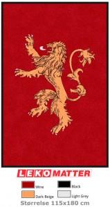 Logomatte løve-foto