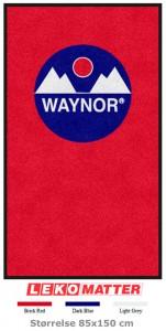 Mørk rød logomatte-foto