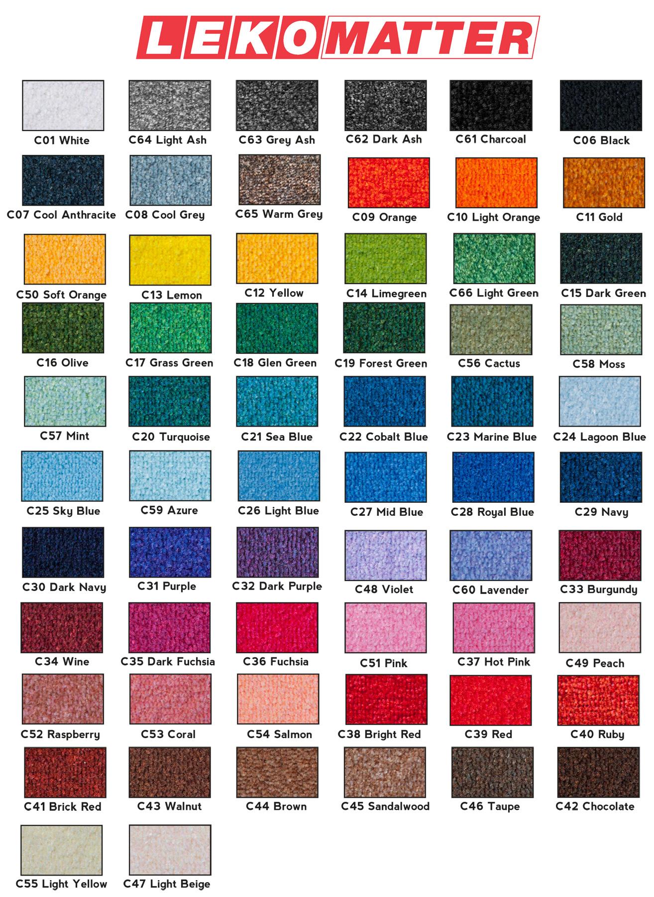 Ulike farger-gulvmatte-foto