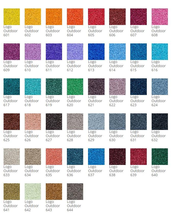 Utendørsmatte fargekart