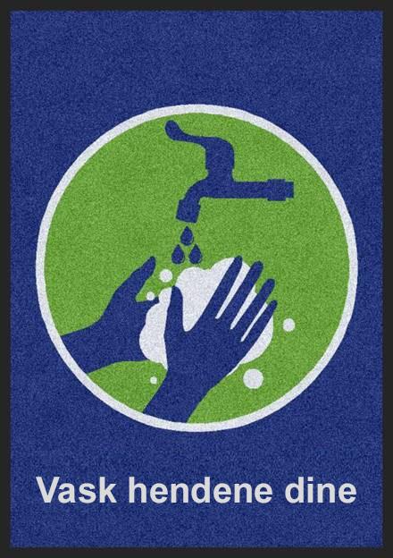 Gulv vask hendene