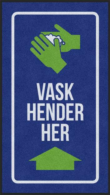 Vask hender infomatte
